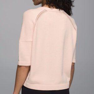 Lululemon Pink Crop Sweater